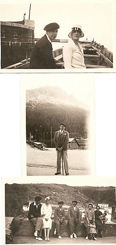 The Lunts & Claggett Wilson on a Basque Country tour, 1928