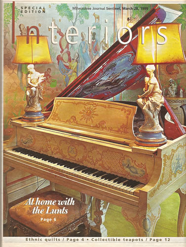 Piano painted by Claggett Wilson for the Great Parlor