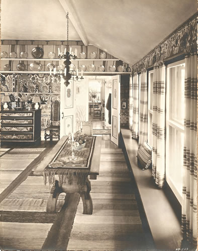 The Cottage Drawing Room designed and decorated by Alfred Lunt